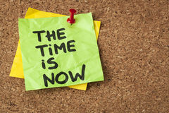 Время теперь Стоковая Фотография