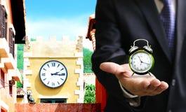 Время установить часы, часовой пояс Стоковые Фото