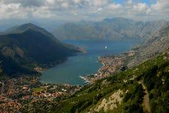 время утра montenegro kotor залива Стоковая Фотография RF