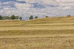Время хлебоуборки - польский сельский взгляд. Стоковое Изображение