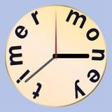 Время часов время денег также вектор иллюстрации притяжки corel Стоковая Фотография