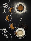 Время чая в космосе стоковое фото