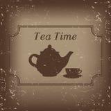 Время чая - иллюстрация стоковые фото