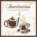 время чая партии приглашения бесплатная иллюстрация