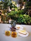 Время чая после обеда стоковая фотография