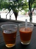 Время чая утра в туристической достопримечательности Таиланда Стоковые Изображения