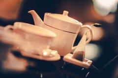 Время чая часов 5 o Стоковое Изображение