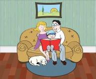 время чтения семьи Стоковая Фотография