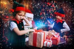Время чуда с santa стоковая фотография