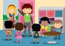 Время школы домашнее Стоковые Изображения RF