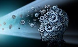 Время экрана повреждая мозг иллюстрация штока