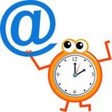 время электронной почты иллюстрация вектора