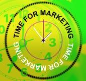 Время для выходить на рынок представляет коммерцию и продавать электронной коммерции бесплатная иллюстрация