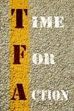 Время для знака действия Стоковые Изображения RF
