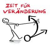 Время для изменения, немецкое иллюстрация вектора