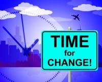 Время для изменения показывает в настоящее время и изменять бесплатная иллюстрация