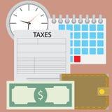 Время для налога оплаты Стоковые Фото