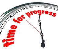 Время для нововведения часов прогресса движение вперед иллюстрация штока
