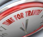 Время для перемещения формулирует транспорт праздника Vactation часов иллюстрация штока
