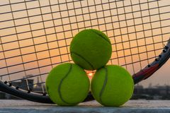 Время для тенниса Стоковая Фотография