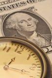 время дег финансов принципиальной схемы дела Стоковое Изображение RF