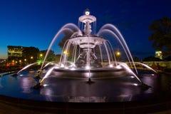 Время Exposue фонтана Стоковые Изображения RF