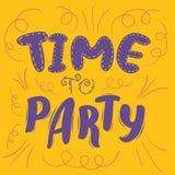 Время party плакат Стоковая Фотография
