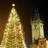 время prague рождества Стоковые Фото
