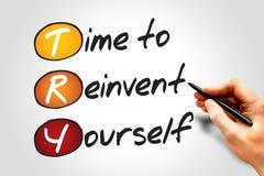 Время Reinvent стоковые фотографии rf
