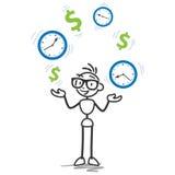 Время Stickman деньги, урожайность бесплатная иллюстрация