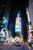 время york квадрата ночи manhattan города новое Стоковые Изображения