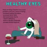 Вред к выпивать для того чтобы наблюдать здоровье Стоковое фото RF