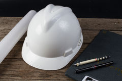 Вред шлема для инженера стоковая фотография