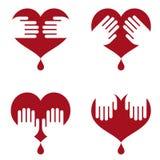 вручает иконы человека сердца Стоковое Изображение RF