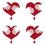 вручает иконы человека сердца Стоковая Фотография