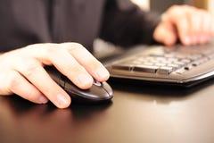 вручает клавиатуру Стоковое Фото
