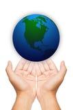 вручает наш мир спасения 2 Стоковые Изображения