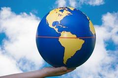 вручает наш мир Стоковое Изображение RF