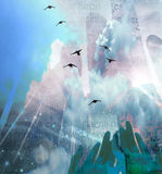 вручает небо Стоковое Изображение RF