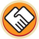 Вручает логотип Стоковые Фотографии RF