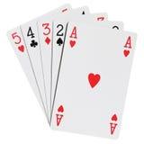 вручает покер Стоковые Фото