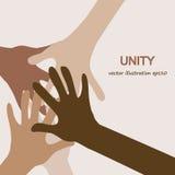 Вручает разнообразное единство Стоковая Фотография