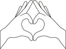 вручает символ сердца Стоковые Изображения