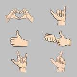 Вручает символ руки значка Стоковые Фотографии RF