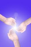 вручает солнечний свет стоковое изображение