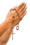вручает старый молить Стоковые Фото