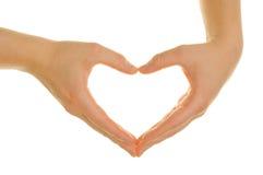 вручает формировать сердца Стоковые Фотографии RF