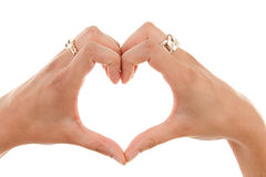 вручает форму сердца Стоковое фото RF