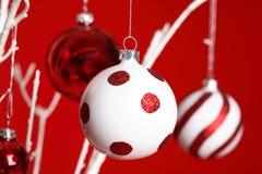 вручать рождества baubles стоковое изображение
