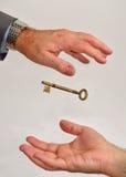 вручающ ключей сверх Стоковое Изображение RF